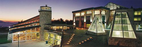 UNBC Campus at Night
